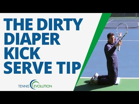 TENNIS KICK SERVE | Tennis Drill How To Hit A Kick Serve - TENNIS SERVE LESSON
