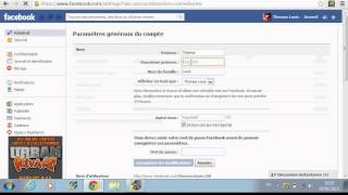 Comment changer de Nom Facebook