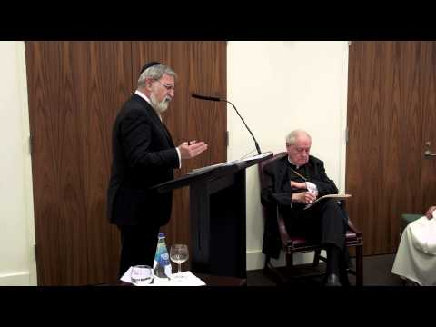Rabbi Jonathan Sacks at the Catholic Center at NYU, Part I