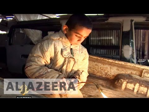 Syrian child refugees forced to work illegally in Lebanon