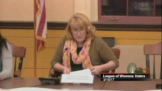League Of Women Voters Candidates Night 3/15/17