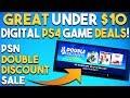 10 GREAT UNDER $10 PS4 Game Deals PSN Double Discount Sale (PSN Store Sale 2018)