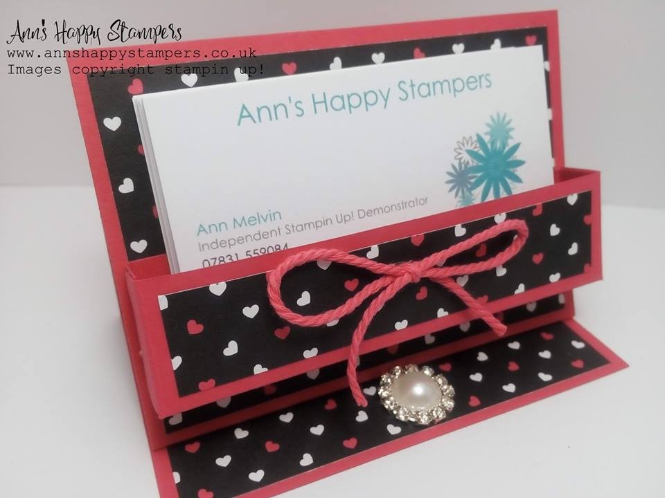 Cute Business card/Post it note holder using New Pop of pink DSP ...