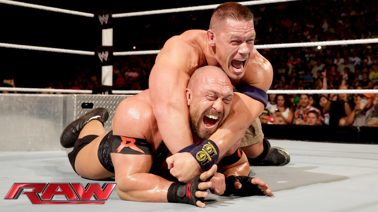 John Cena vs  Ryback - Tables Match: Raw, July 29, 2013