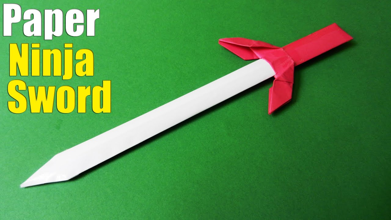 Origami Sword How To Make A Cool Paper Youtube Link Instructions By Wakeangel2001 On Deviantart Ninja Tutorial