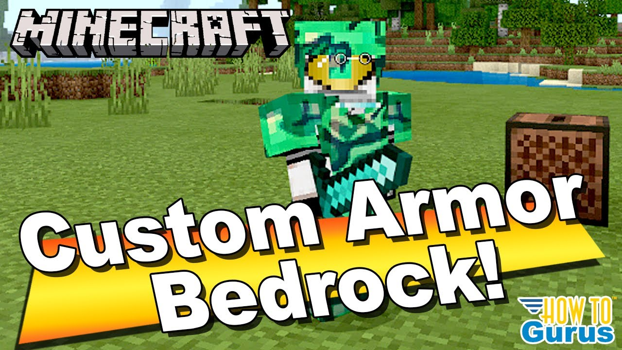 How To Custom Minecraft Armor Texture Pack in Minecraft Bedrock Edition  8.86 8.85