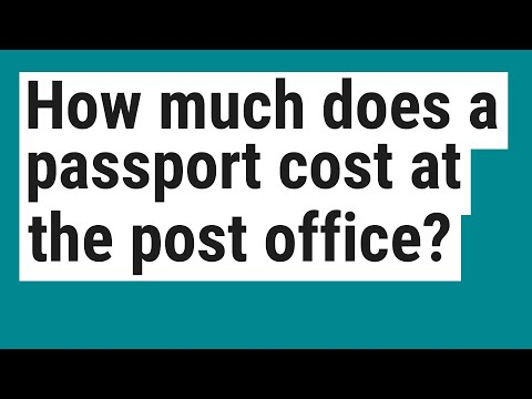 How Much Does A Passport Cost At The Post Office?