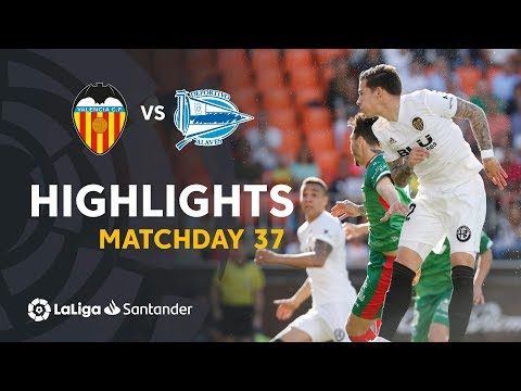 Highlights Valencia CF vs Deportivo Alavés (3-1)