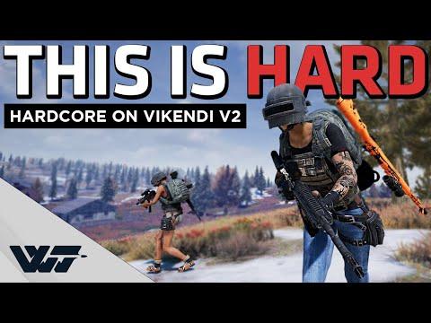 THIS IS HARD - First Hardcore Game On Vikendi V2 NO UI/Killfeed/info - PUBG