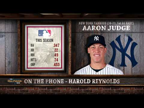 MLB Network's Harold Reynolds on the Rise of Yankees' Aaron Judge | The Dan Patrick Show | 6/13/17