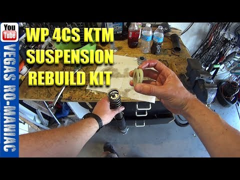 How to replace Oil, NEW SEAL and Bushings repair kit for KTM WP 4CS FORKS