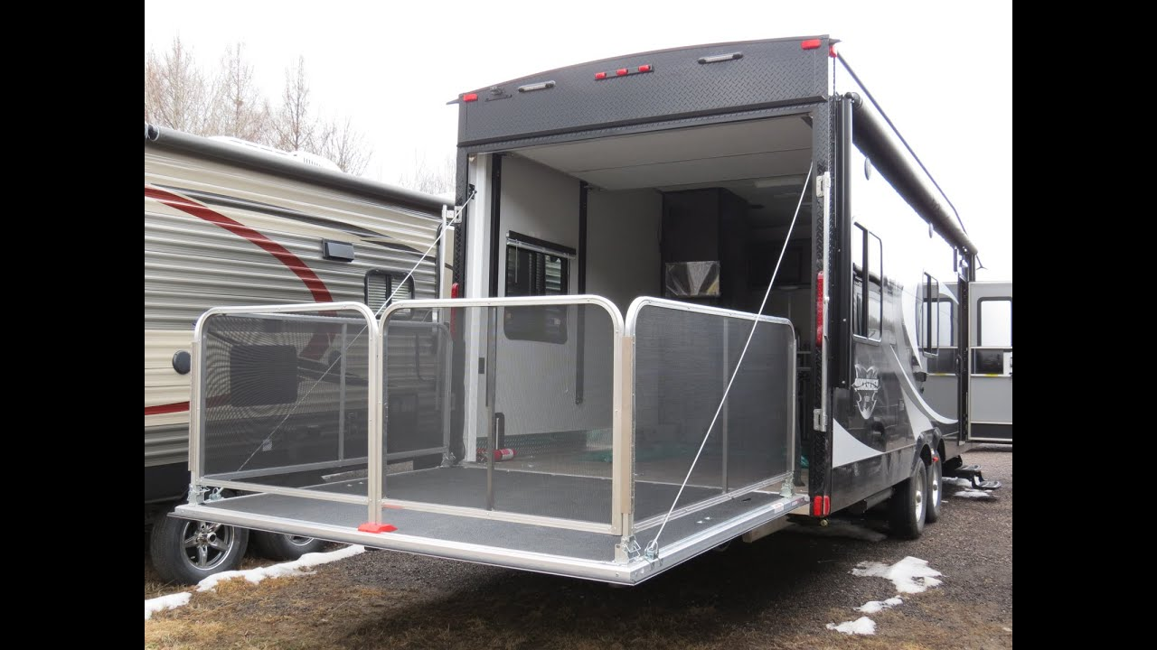 how to setup ramp patio package on livin lite toy haulers
