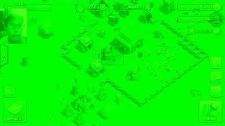 Coc (Clash of Clans) glitch wallpaper hone in green colour