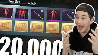 LUCKIEST 20,000 UC OPENING! PUBG MOBILE