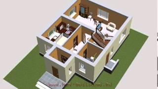 3D видео проект - дом с мансардой площадью 123 м2(, 2012-12-23T09:56:34.000Z)