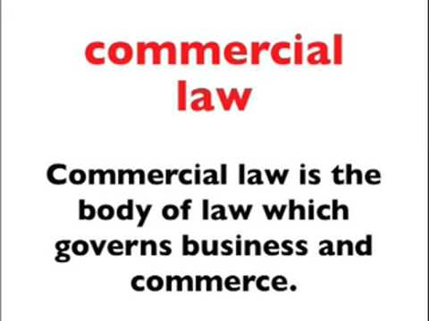 Advanced Business English Vocabulary Lesson for ESL - Commercial Law, 2