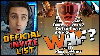 *CLAN REVEAL* Official CWL Invite Season 6 Clans | Clash of Clans
