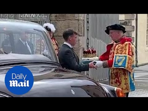 Crown Arrives At Holyrood Ahead Of Queen's Speech To MSPs