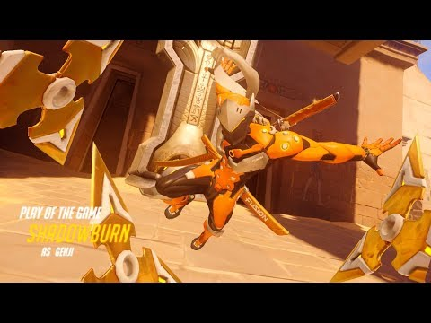 OW ShaDowBurn Playing Genji 43:1 on Temple of Anubis