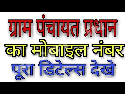 ग्राम पंचायत प्रधान का मोबाइल नंबर पूरा डिटेल्स देखे | pradhan ka details kaise nikale thumbnail