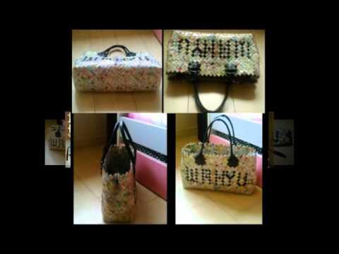Kerajinan tangan dompet dan tas dari koran - YouTube cd39a32b5d