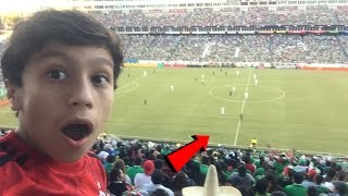 CROWD GOES WILD!  LIVE SOCCER GAME MEXICO VS NEW ZEALAND