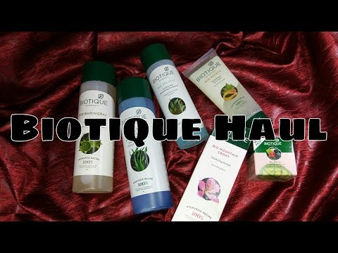 Biotique Haul   Organic, Preservatives Free Products   100% Botanical Extracts