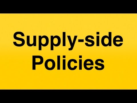 Supply-side policies - AS Economics
