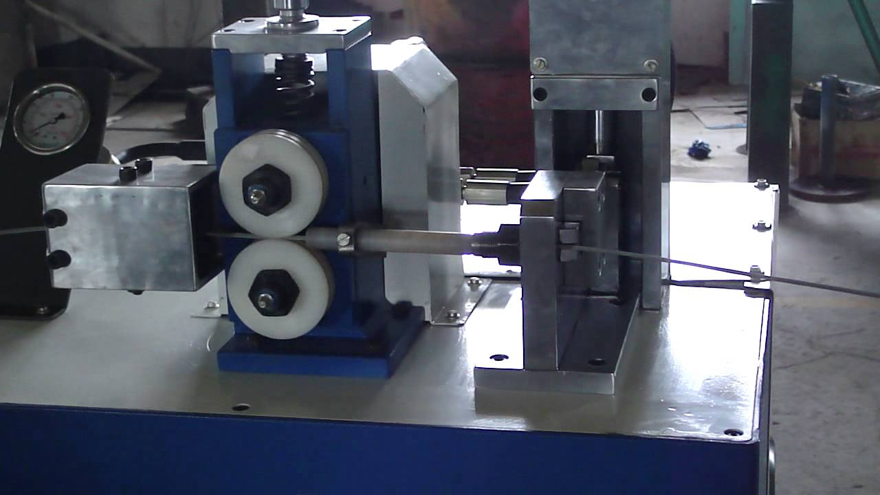 Wire Cutting Machine For Multi Strand Wire Youtube
