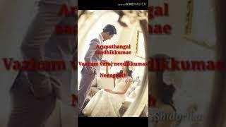 Nee kidaithai song lyrics/ Whatsapp Love Status😍/ lovable couples