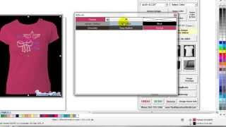 How to make a custom Tshirt Color Palette in Corel Draw for the TRW Stone Wizard