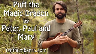 Puff The Magic Dragon - Peter, Paul & Mary - Super Easy Beginner Ukulele Song Tutorial