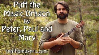 Puff The Magic Dragon - Peter, Paul & Mary - Super Easy Beginner Ukulele Song Tutorial