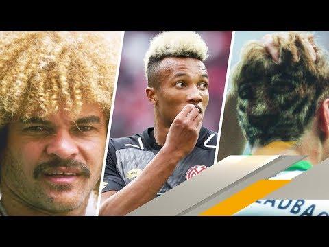 Pudel, Rasierpinsel, Bart Simpson: Die lustigsten Fußballer-Frisuren | SPORT1 VIP-LOGE