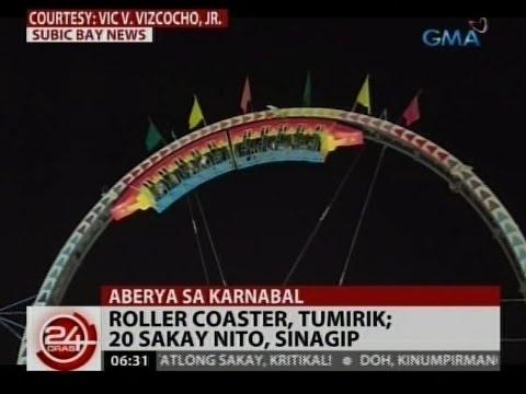 24 Oras: Roller coaster sa Subic, tumirik; 20 sakay nito, sinagip
