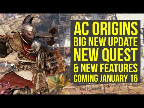 Assassin's Creed Origins DLC NEW QUEST, Features & More Coming January 16 (AC Origins DLC)