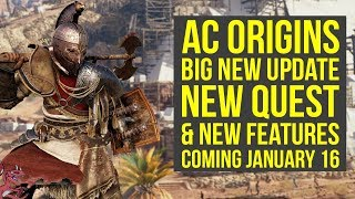 Assassin's Creed Origins DLC NEW QUEST, Features & More Coming January 16 (AC Origins DLC) thumbnail