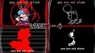 You Are Not Alone || Friday Night Funkin/Fnf || Week 1-4 (All Weeks?) || HasnaTUBE