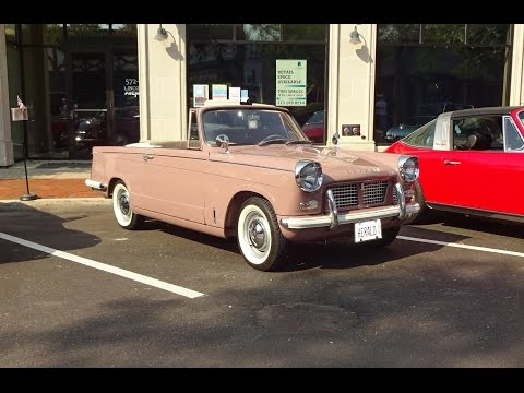 1960 Triumph Herald 948 Convertible & Engine Sound on My Car Story with Lou Costabile