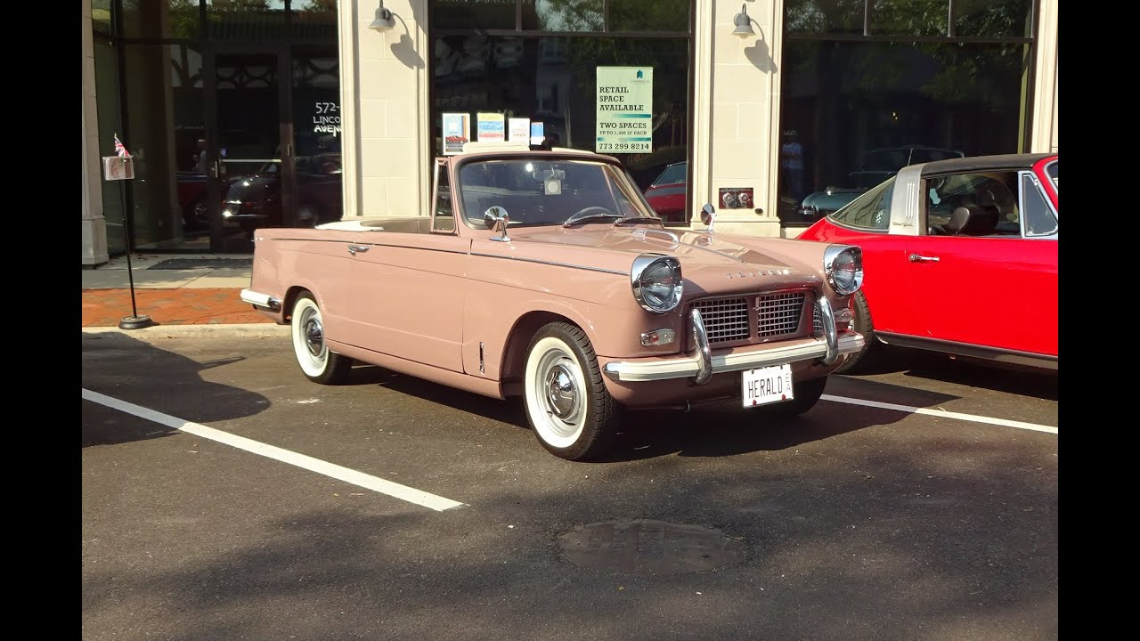 Free Car History Report >> 1960 Triumph Herald 948 Convertible & Engine Sound on My Car Story with Lou Costabile - YouTube