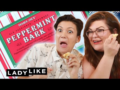 Kristin And Jen Try Every Trader Joe's Holiday Dessert • Ladylike