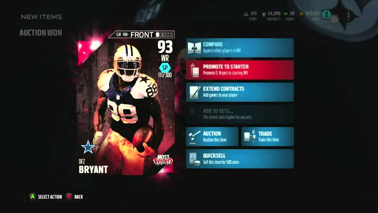 Throw Up The X We Got Limited Edition Most Feared Dez Bryant Xbox One Madden 16 Ultimate Team