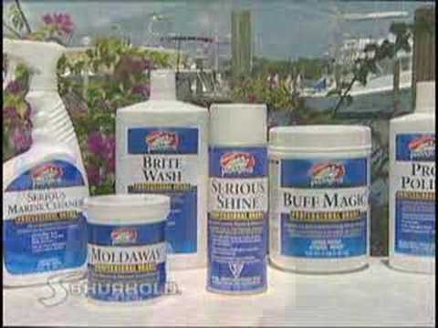 Cleaning and Detailing your boat? TIP: Use Shurhold's Clean-N-Simple System