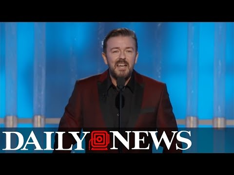 Ricky Gervais burns Hollywood elite at Golden Globes