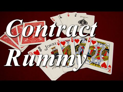 How to play Contract Rummy ♦♣♥♠