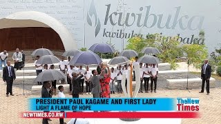 "Watch How President Kagame and first lady light a ""Flame of Hope"" 2015"