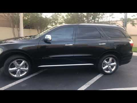 2013 BLACK DODGE DURANGO CITADEL (1C4RDHEG2DC) with an 3.6L engine, Automatic transmission, located at 6921 40th St N, Pinellas Park, FL, 33781, (727) 366-8136, 27.834944, -82.687653 - Photo #0