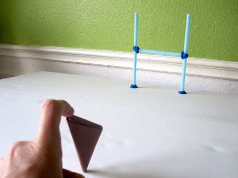 How to Make a Paper Flick Football - Origami (GIANT FINGER FOOTBALL) Let's Rock Engineers