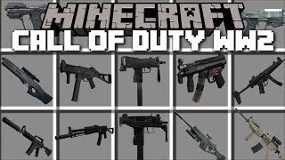 Minecraft CALL OF DUTY WW2 MOD / FIGHT OFF BANDITS AND SURVIVE!! Minecraft