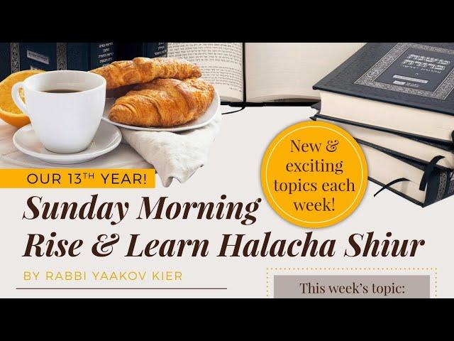 Preparing For/On Yom Tov: The Halachos of Hachana